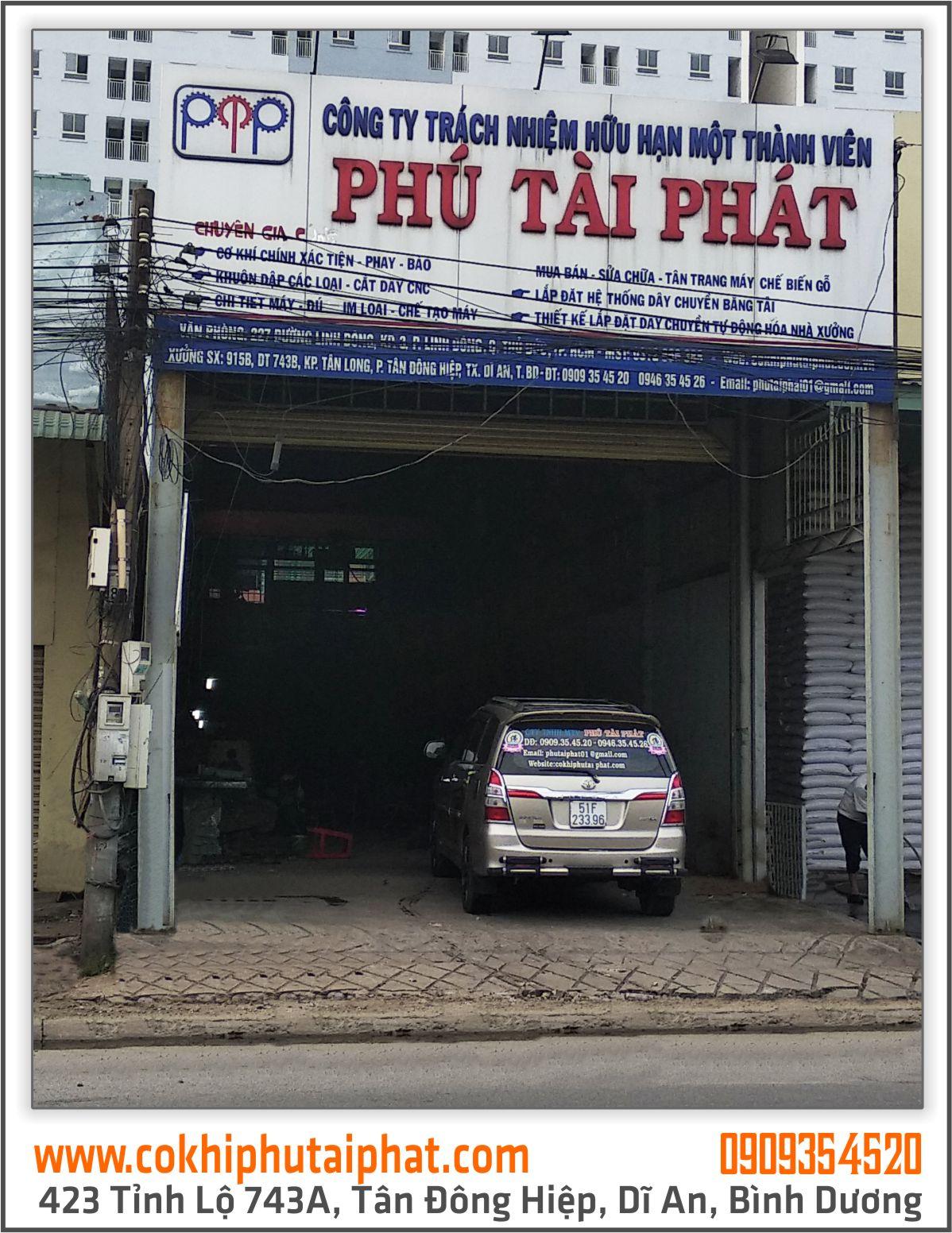 xưởng gia công cơ khí ở bình dương - Phú Tài Phát ở Bình Dương - mec